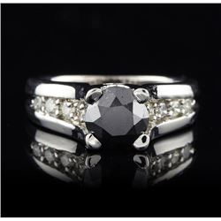 14KT White Gold 1.65ct Black & White Diamond Ring