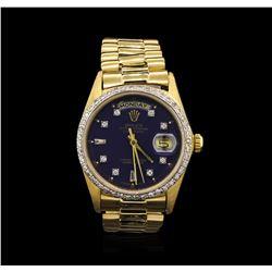 Rolex President 18KT Gold 1.00ctw DayDate Men's Watch