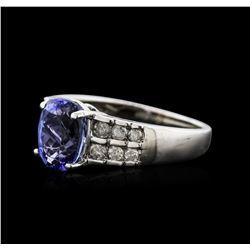 14KT White Gold 2.32ct Tanzanite and Diamond Ring