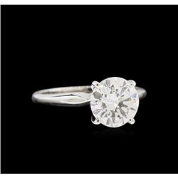 EGL USA Certified 2.01ct Diamond Solitaire Ring - 14KT White Gold