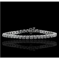 14KT White Gold 4.15ctw Diamond Tennis  Bracelet