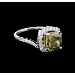 4.17ct Yellow Diamond Ring - 18KT White Gold