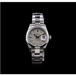 Rolex Stainless Steel Oyster Perpetual DateJust Ladies Watch