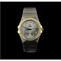 Omega 18KT Two-Tone 1.02ctw Constellation Mens Watch