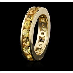 14KT Yellow Gold 4.18ctw Yellow Sapphire Ring