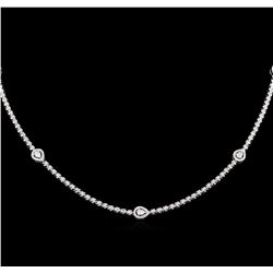 3.42ctw Diamond Necklace - 18KT White Gold