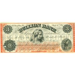 Washington D.C. Bullion Bank $3 Note