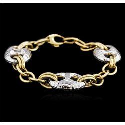 14KT Two-Tone Gold Fashion Bracelet