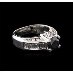3.71ctw Fancy Black Diamond Ring - 14KT White Gold