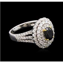1.17ct Alexandrite and Diamond Ring - 18KT White Gold