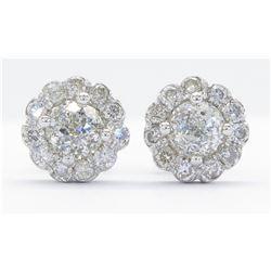 1.19ctw Diamond Earrings - 14KT White Gold