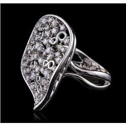 14KT White Gold 0.88ctw Diamond Ring