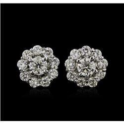14KT White Gold 1.97ctw Diamond Earrings
