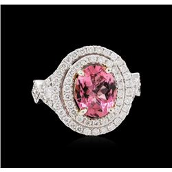 14KT Two-Tone Gold 2.32ct Tourmaline and Diamond Ring