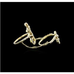 0.84ctw Diamond Knuckle Ring - 14KT Yellow Gold