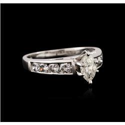 Platinum 0.99ctw Diamond Ring