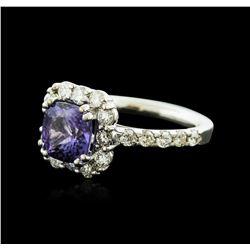 14KT White Gold 2.53ct Tanzanite and Diamond Ring
