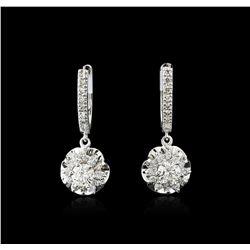 14KT White Gold 1.24ctw Diamond Earrings