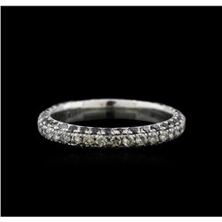 1.31ctw Black and White Diamond Ring- 14KT White Gold