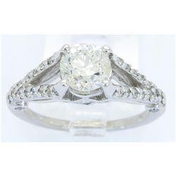 EGL Cert 1.57ctw Diamond Ring - 14KT White Gold