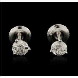 14KT White Gold 0.67ctw Diamond Stud Earrings