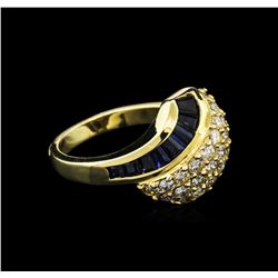 2.20ctw Sapphire and Diamond Ring - 14KT Yellow Gold
