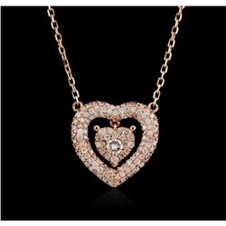 14KT Rose Gold 0.55ctw Diamond Necklace
