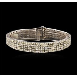 14KT White Gold 7.23ctw Diamond Bracelet