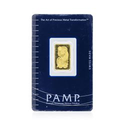 5 Gram Gold Bar - Pamp Suisse Lady Fortuna 999.9 Fine Gold