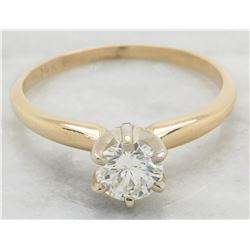 0.40ct Diamond Ring - 14KT Yellow Gold