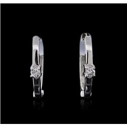 14KT White Gold 0.04ctw Diamond Earrings