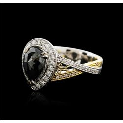 18KT Two-Tone Gold 2.72ctw Black Diamond Ring