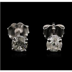 14KT White Gold 0.59ctw Diamond Stud Earrings