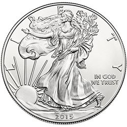 2015 American Silver Eagle Dollar Gem BU Coin