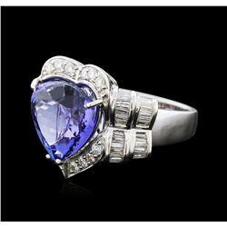 18KT White Gold 8.74ct Tanzanite and Diamond Ring