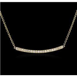 14KT Yellow Gold 0.84ctw Diamond Necklace