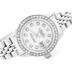 Rolex Stainless Steel 1.00ctw Diamond DateJust Ladies Watch