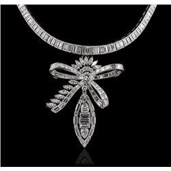 Platinum 38.64ctw Diamond Pendant With Chain