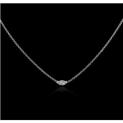 14KT White Gold 0.14ct Diamond Solitaire Necklace