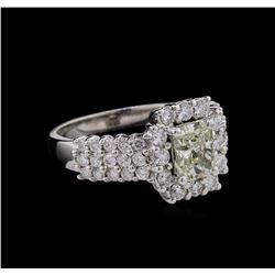 1.90ctw Diamond Ring - 14KT White Gold