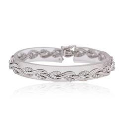 14KT White Gold 1.63ctw Diamond Bracelet