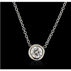 14KT White Gold 0.40ct Diamond Necklace
