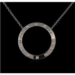 0.50ctw Diamond Necklace - 14KT White Gold