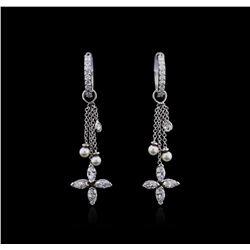 14KT White Gold 1.25ctw Diamond Earrings