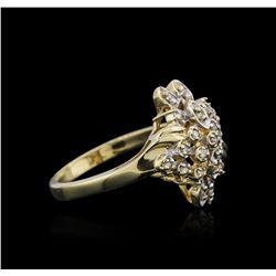 14KT Yellow Gold 0.25ctw Diamond Ring