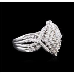 1.00ctw Diamond Ring - 14KT White Gold