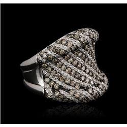 18KT White Gold 1.92ctw Brown Diamond Ring