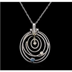 1.80ctw Diamond Pendant With Chain - 14KT White Gold