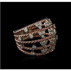 14KT Rose Gold 1.00ctw Diamond Ring