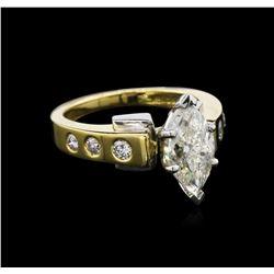 EGL INT Cert 2.26ctw Diamond Ring - 18KT Two-Tone Gold